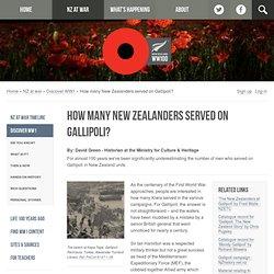 How many New Zealanders served on Gallipoli?