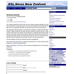 ESL News New ZealandGrammy Awards » ESL News New Zealand