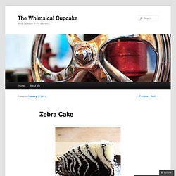 Zebra Cake | The Whimsical Cupcake