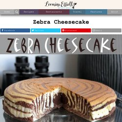 Zebra cake recipe, Zebra Cheesecake recipe @Not Quite Nigella - StumbleUpon