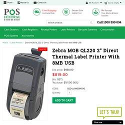 "Zebra MOB QL220 2"" Direct Thermal Label Printer"