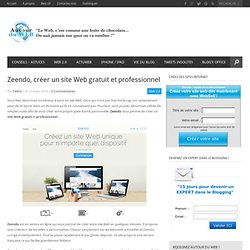 Zeendo, créer un site Web gratuit et professionnel