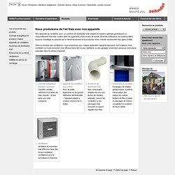 Zehnder Comfosystems Cesovent AG - Produits