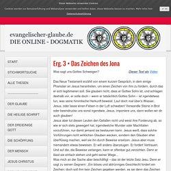 Das Zeichen des Jona - evangelischer-glaube.de