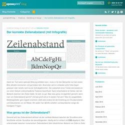 Der korrekte Zeilenabstand (mit Infografik) - xposeprint® blog