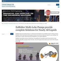 Zeilfelder Multi-Lobe Pumps provide complete Solutions for Nearly All Liquids