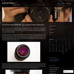 Carl Zeiss Jena DDR MC 3.5/135mm review and more