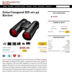 Zeiss Conquest HD 10x42 Review