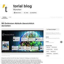 Mit Zeitleisten Abläufe übersichtlich darstellen - torial blog