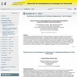 Zeitschrift für fachdidaktische Grundlagen der Informatik - Ausgabe Nr. 9 - 2011-