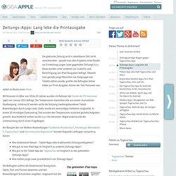 Zeitungs-Apps: Lang lebe die Printausgabe « macnews.de