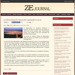 ZEjournal.mobi - La déforestation de l'Amazonie a quintuplé en un an