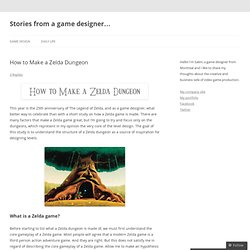 How to Make a Zelda Dungeon