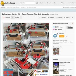 ZelosLaser Cutter 2.0 : Open Source, Sturdy & Versatile: 8 Steps
