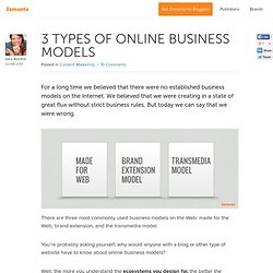 Trusted Content Discovery The 3 Main Types of Online Business Models Explained