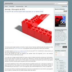 El volumen del universo observable explicado con un ladrillo LEGO