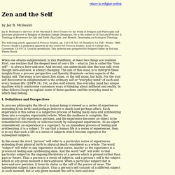 Zen and the Self