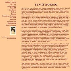 Zen is Boring - isn't it? - Buddha's world