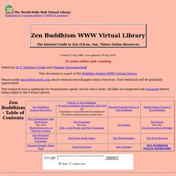 Zen Buddhism WWW Virtual Library