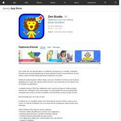 Zen Studio dans l'App Store