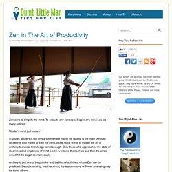 Zen in The Art of Productivity