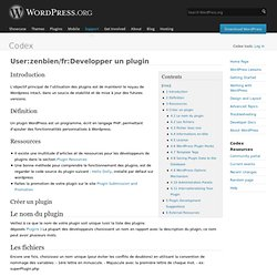 Developper un plugin