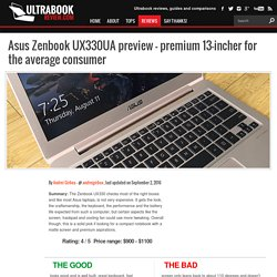 Asus Zenbook UX330UA preview - premium 13-incher for the average consumer