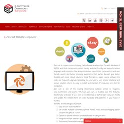 Zencart Ecommerce Web Development Company in India