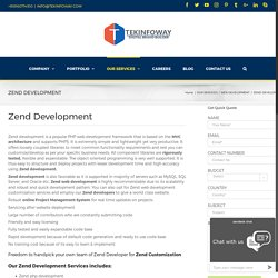 Hire Dedicated developer for Zend Development