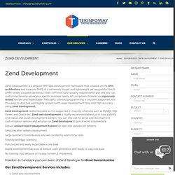 Hire Dedicated developer for Zend Development