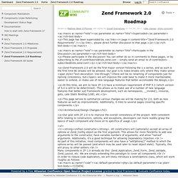 Framework 2.0 Roadmap - Zend Framework 2.0