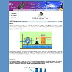 turbine principe et calculs