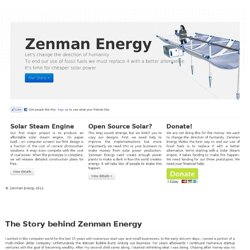 Zenman Energy - Non-Profit Solar Research