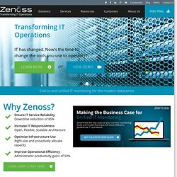 Zenoss Home - Commercial Open Source Application, Systems and Network Monitoring - Zenoss
