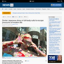 Zentai: Japanese dress in full-body suits to escape pressures of modern life