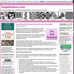 How to draw three types of grids for your Zentangles