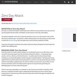 Zero Day Attack Definition