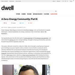 A Zero-Energy Community: Part 6