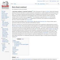 Zero-hour contract
