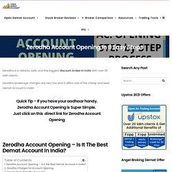 How To Open Zerodha Account Online (July 2020) - Zerodha Account Opening
