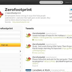 zerofootprint (zerofootprint) on Twitter