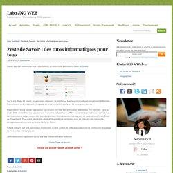 Zeste de Savoir : des tutos informatiques pour tous - Labo JNG WEB