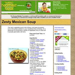 Zesty Mexican Soup
