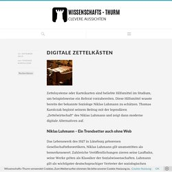 Digitale Zettelkästen - Wissenschafts-Thurm