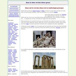 Zeus le dieu roi des dieux grecs