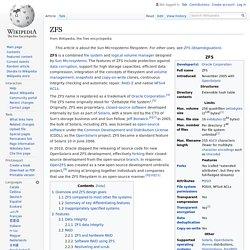 ZFS - Wikipedia
