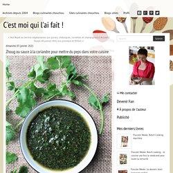 Zhoug ou sauce à la coriandre