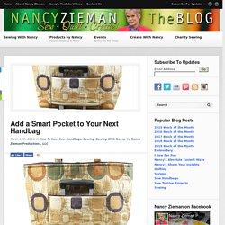 Nancy Zieman/Sew handbags/How to sew a smart pocket