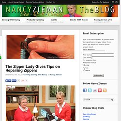 Nancy Zieman/How to repair zippers/Sewing With Nancy