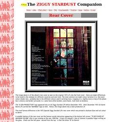 The Ziggy Stardust Companion - Album rear cover